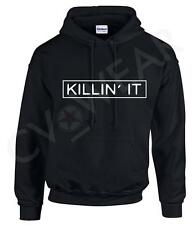 KILLIN IT HOODY HOODED TOP HIPSTER FASHION BLOGGER SLOGAN DOPE SWAG TUMBLR NEW