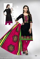 Cotton Printed Unstitched Dress Material Suit by KPR FashN