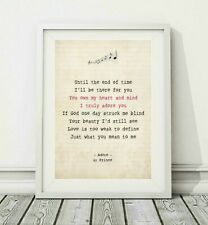 252 Prince - Adore - Song Lyric Art Poster Print - Sizes A4 A3