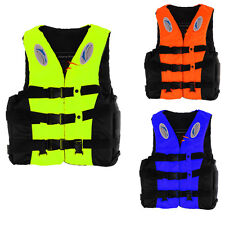Adult Child Life Jacket Swimming Boating Polyester Foam Floating Vest + Whistle