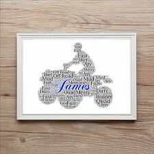 Quad Bike ATV Off Road Birthday Christmas Family Word Art Print Gift Stag Night