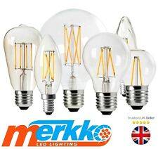 Vintage Filament LED Light Bulb Lamp Dimmable E14 E27 B22 Candle,Globe,Spotlight
