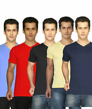 Joke Tees Solid Men's V-neck T-Shirt  (Pack of 2)