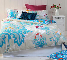 Paxton & Wiggin Mitra Chenille Embroidery Quilt Doona Cover Set - QUEEN KING