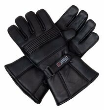 Mens Genuine Leather Waterproof Motorbike Thermal Thinsulate Gloves free deliver