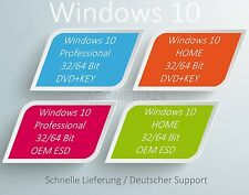 MS Windows 10 Professional Home 32/64 Bit SP1 OEI 1PK OEM DVD + KEY u. ESD Deut.