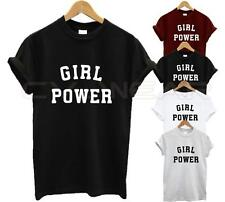 GIRL POWER T SHIRT FASHION TUMBLR LOVE FUNNY RULE QUEEN HIPSTER SWAG DOPE UNISEX