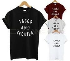 TACOS AND TEQUILA T SHIRT FASHION TUMBLR HIPSTER BLOGGER SLOGAN OOTD SWAG DOPE
