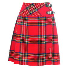"New Ladies Scottish Royal Stewart 20"" Knee Length Range of Tartans Size 6-28"