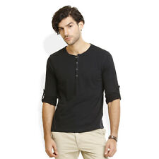 Identiti Stylish Casual Black T-Shirt For Mens (402-2924-02)