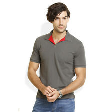 Identiti Stylish Casual  Casual Solid Grey T-Shirt For Mens (102-5202-41)