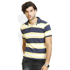 Identiti Stylish Casual  Casual Sold Yellow T-Shirt For Mens (102-6384-21)