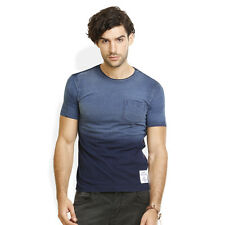 Identiti Stylish Casual Blue T-Shirt For Mens (402-6651-12)