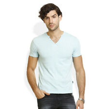 Identiti Stylish Casual Pista Green T-Shirt For Mens (402-2727-48)