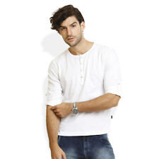 Identiti Stylish Casual White T-Shirt For Mens (402-2924-01)