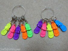 Knitting / Crochet Stitch Markers x 5, Flip Flops / Shoes