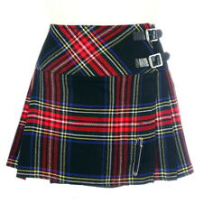 New Ladies Scottish Black Stewart 13 In Billie Kilt Range of Tartans Size 6-28UK