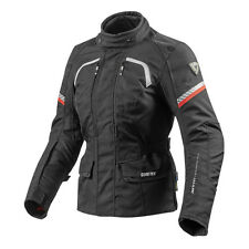 REV'IT REVIT Neptune GTX Damas Polo Negro Chaqueta Para La Motocicleta