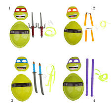 TMNT Magic Turtles Combat Shell Cosplay Four Mask Turtles Set Xmas Gifts