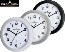 Precision Good Quality Radio Controlled White Wall Clock New SILVER,BLACK,WHITE