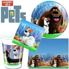 The Secret Life Of Pets Birthday Party Tableware Kids Plates Cups Napkins