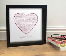 First Dance Song OUR SONG And lyrics or words ROMANTIC GIFT for her Heart Design