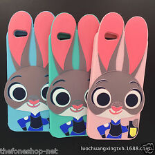 Luxury Rabbit Face cartoon Soft Rubber Back cover for Apple iPhone 5, 6, 6 Plus