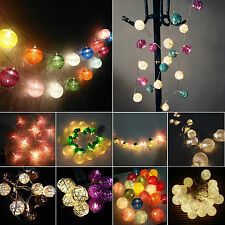 Battery Operated Festoon Blub Fairy String Lights Christmas Party Wedding Decor