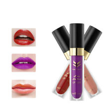 Set of 3 Moisturizing Lip Matte Gloss Long Lasting Makeup Lipstick Lip Cream 5ML