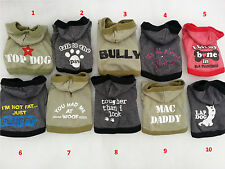 Small dog clothes coat Chihuahua outfit puppy jumper warm Hoodie Top XS