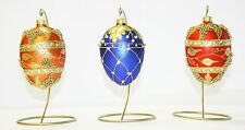 Faberge egg glass Christmas decoration/ornament/bauble handmade