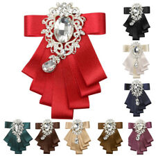 Men's Bridegroom Formal Bow tie Wedding Party Dance Ribbon Diamand Neckwear
