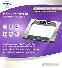 New Body Fitness Health Scale - Weight Loss, BMI, Muscle, Mass, Hydration