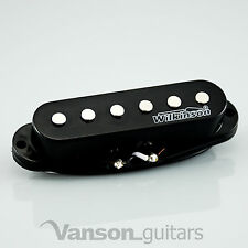1 x NEW Wilkinson HOT Single Coil Pickup for Strat®* guitars, BLACK MWHS