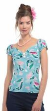 Collectif Dolores 50s Vintage Style Mermaid Print Top