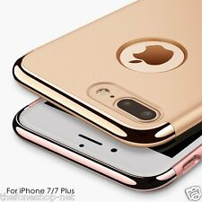 Premium Quality 3 in 1 Gold Electroplated Hybrid Back Cover For Apple iPhone 7