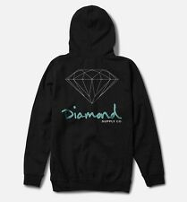 DIAMOND SUPPLY CO OG SIGN ZIP HOODIE IN BLACK