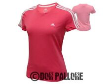 adidas Damen-Shirt Ess.3-Str.Tee Women Freizeit Sport-Top rot Gr. 34-42 Fitness