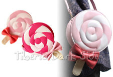 Fuchsia or Baby Pink Lollipop Gothic Sweet Lolita Kawaii Shoulder Purse Bag