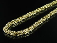 """Mens Ladies 10K Yellow Gold Byzantine Link Chain Necklace 5mm 30"""""""