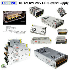 DC12V/5V Driver AC 230V  Power Supply Transformer for LED Strip Light UK Stock