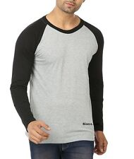 Men's Raglan Neck Full Sleeve Cotton T-Shirt*