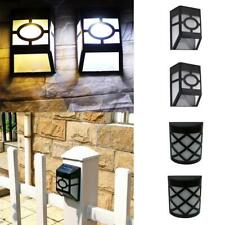 Wall Mounted Solar LED Light Outdoor Garden Path Landscape Fence Lamp 2 Colors
