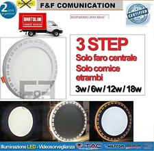 FARO FARETTO LED PANNELLO SLIM INCASSO A MOLLA 3 STEP LUCI CALDA FREDDA NEW HOME