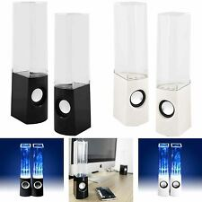 White LED Dancing Water Music Fountain Light Speakers for Phones iPad Laptop MP3