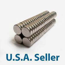 25, 50 100 6x2 mm N48 Strong Rare Earth Neodymium Magnets Permanent Disc Magnet
