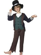Childrens Victorian Oliver Poor Boy Peasant Boys Book Week Fancy Dress Costume