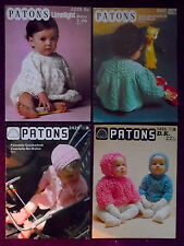 Patons Baby's Knitting Patterns Sweaters Dresses - Choose from Drop-Down Menu