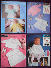 Patons Baby's Knitting Patterns Dresses Coats - Choose from Drop-Down Menu
