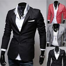 Men's Casual Two Buttons Stand-up Collar Suit - FREE SHIPPING